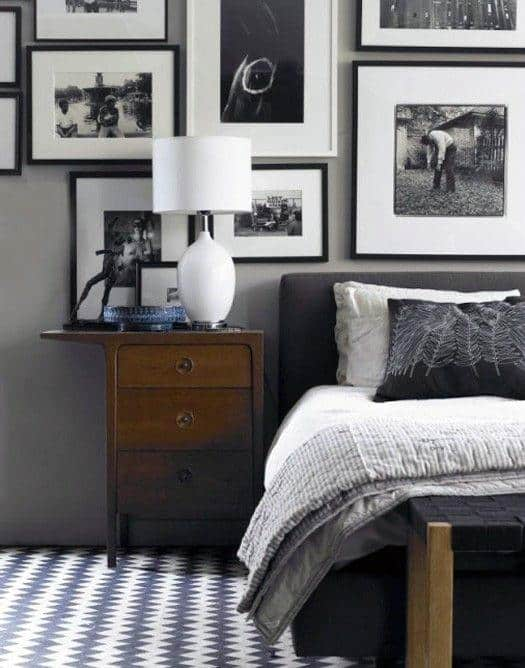 black and white picture wall ideas
