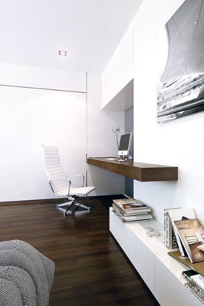 Mens Bedroom Small Home Office Ideas With Wood Wall Desk