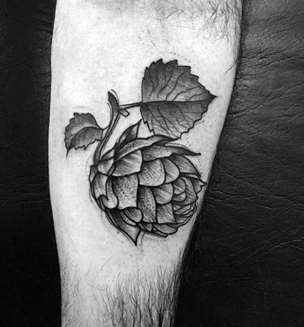 Mens Beer Tattoo Ideas On Inner Forearm