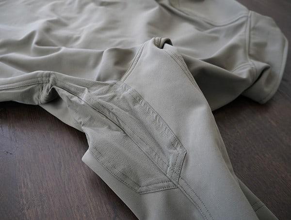 Mens Beyond Clothing Testa Softshell Jacket Stiching Armpit Design