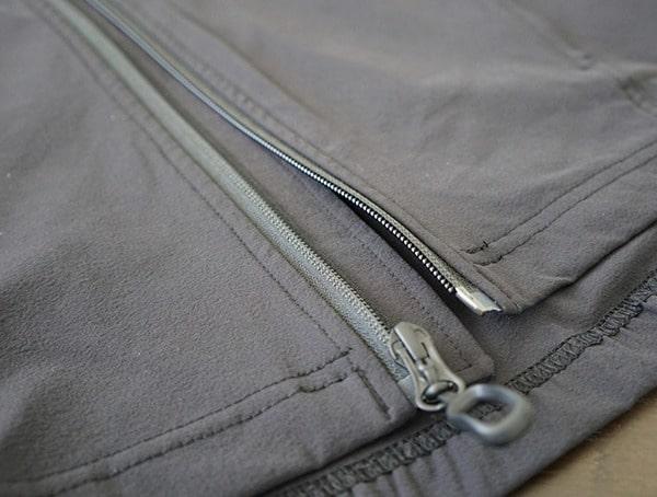 Mens Beyond Clothing Velox Light Softshell Chest Center Zipper