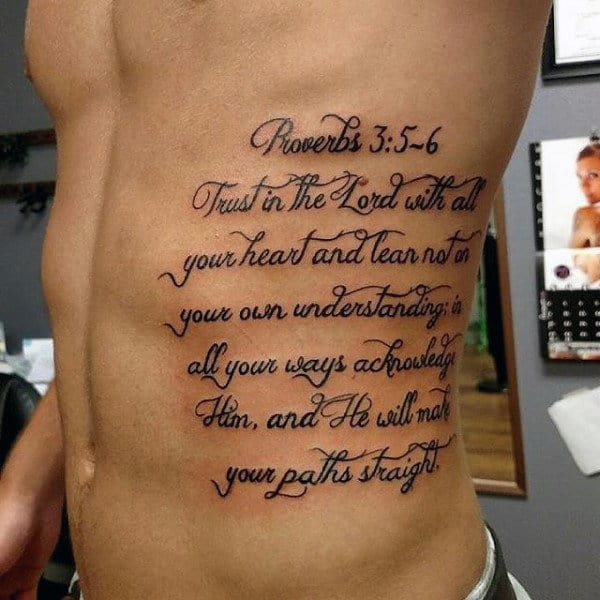 50 bible verse tattoos for men scripture design ideas for Warrior bible verse tattoos