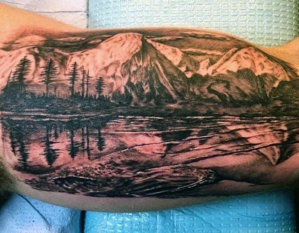 Men's Bicep Tattoo