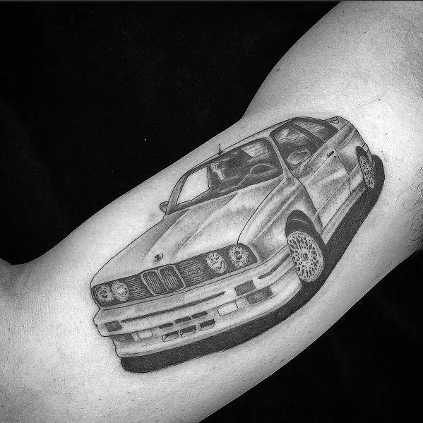 Mens Bicep Tattoos Bmw