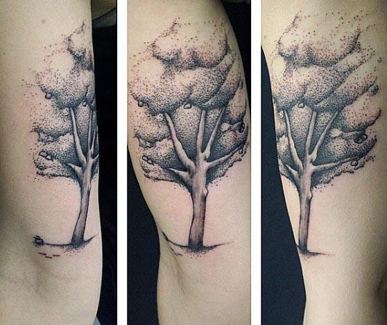 Men's Bicep Tree Tattoos