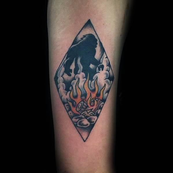 Mens Bigfoot Tattoo Design Ideas