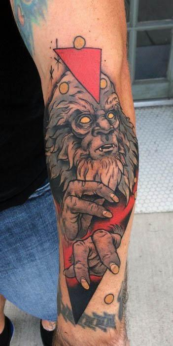 Mens Bigfoot Tattoo Design Inspiration