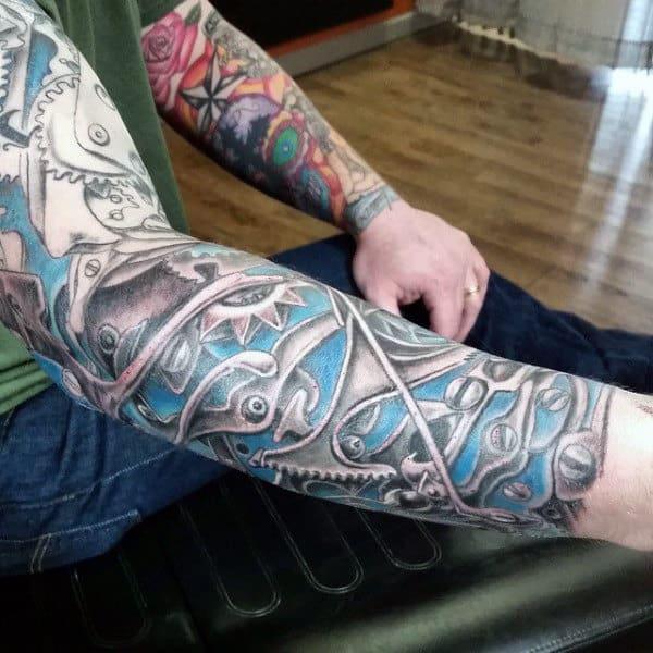 Men's Bio Mechanical Tattoos
