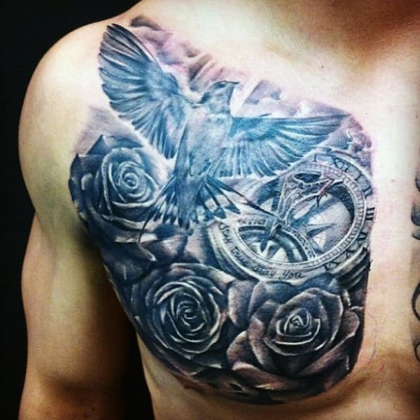 60 bird tattoos for men from owls to eagles. Black Bedroom Furniture Sets. Home Design Ideas