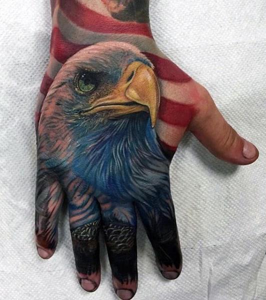 American Bald Eagle Men's Bird Tattoos