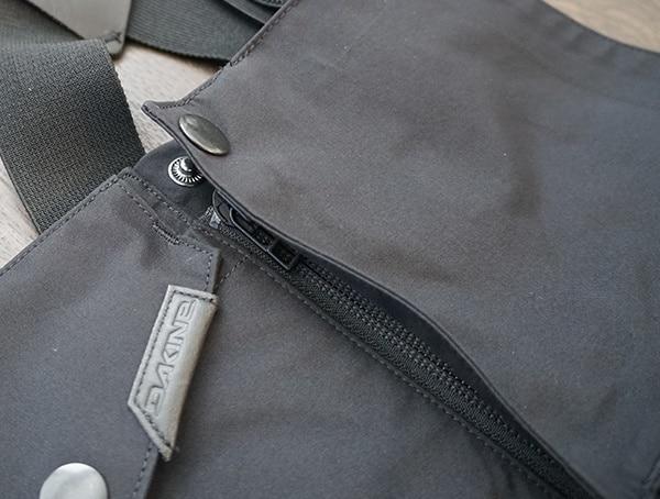 Mens Black Dakine Stoker Gore Tex 3l Bib Quick Fly Hidden Main Zipper