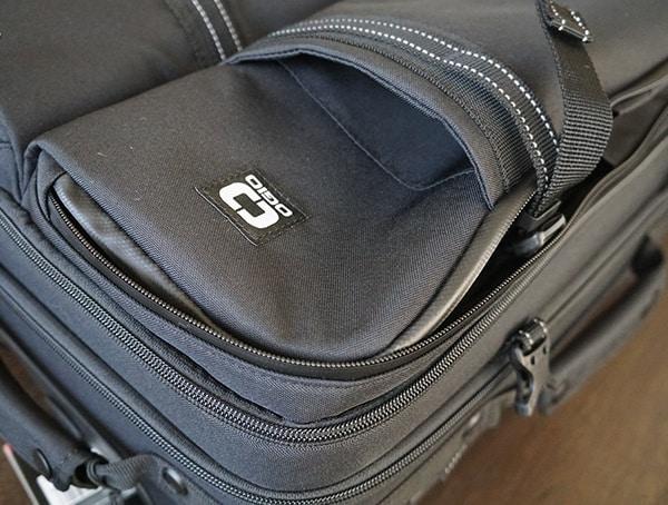 Mens Black Gio Alpha Convoy 522s Travel Bag Left Front Exterior Pocket