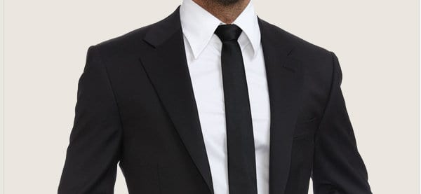 Men's Black Suit For Funeral Attire