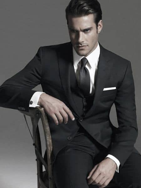 Mens Black Suit Styles Business Professional Ideas