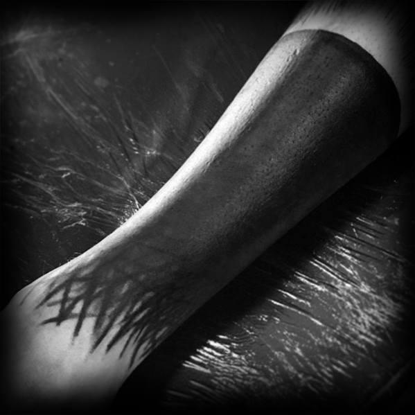 Mens Blackout Sleeve Tattoo Design Ideas