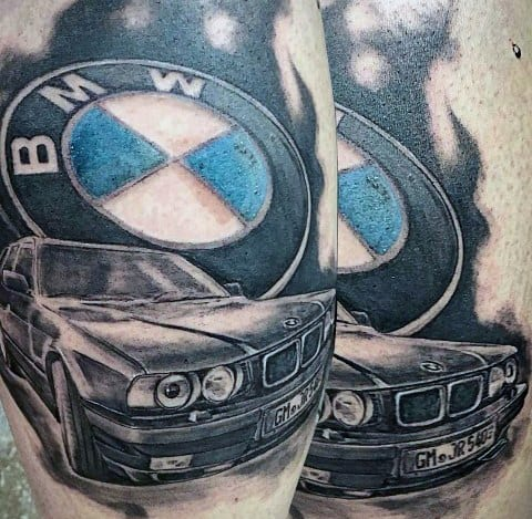 Bmw M6 Gran Coupe >> 70 BMW Tattoo Ideas For Men - Automotive Designs