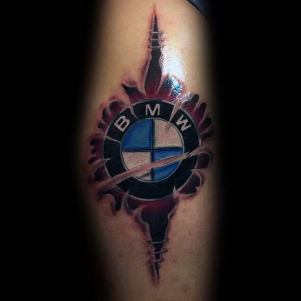 Mens Bmw Tattoos Logo Design
