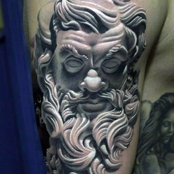 Mens Bold Greek God Tattoo On Arms