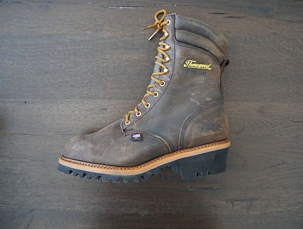 Mens Boots Thorogood Logger Series 9 Inch Brown Crazyhorse Waterproof With Steel Safety Toe