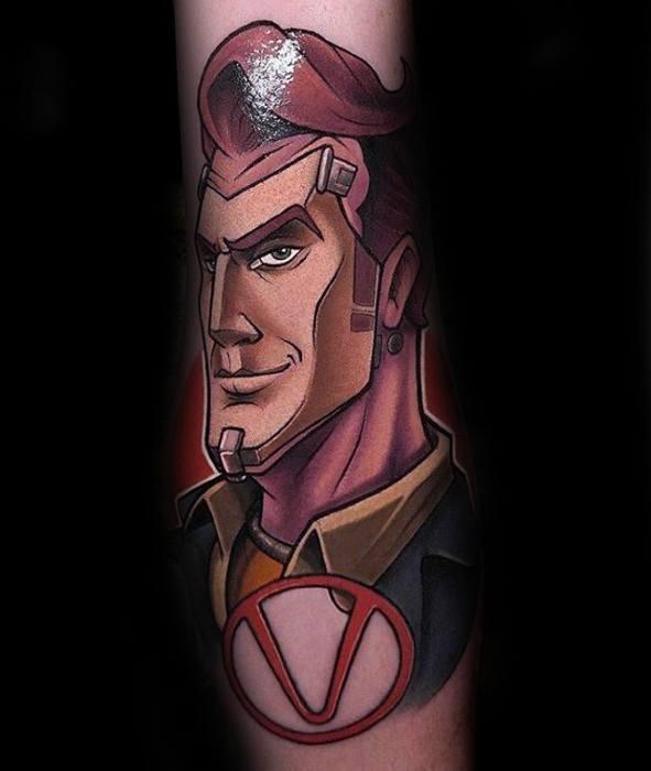 Mens Borderlands Tattoo Design Inspiration