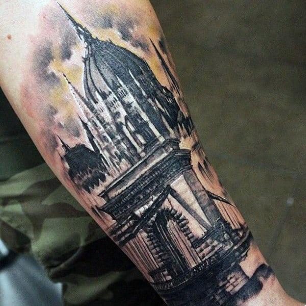 Mens Bridge Outer Forearm Tattoos