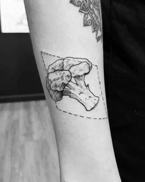 Mens Broccoli Tattoo Designs