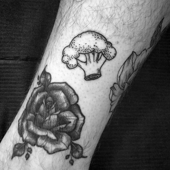 Mens Broccoli Tattoos