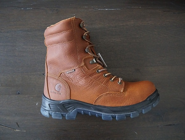 Mens Brown Leather Upper Work Boots Carhartt Made In The Usa 8 Inch Composite Toe