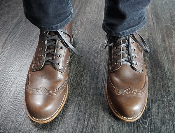 Mens Brown Leather Wolverine 1000 Mile Addison Boots