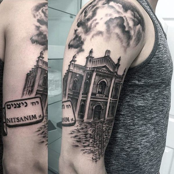 Mens Building Arm Tattoos