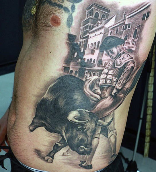 Men's Bull Tattoo
