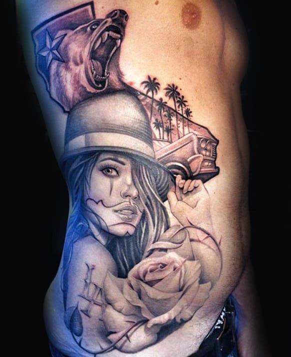 Tattoo Ideas Rib Cage: 100 California Tattoo Designs For Men