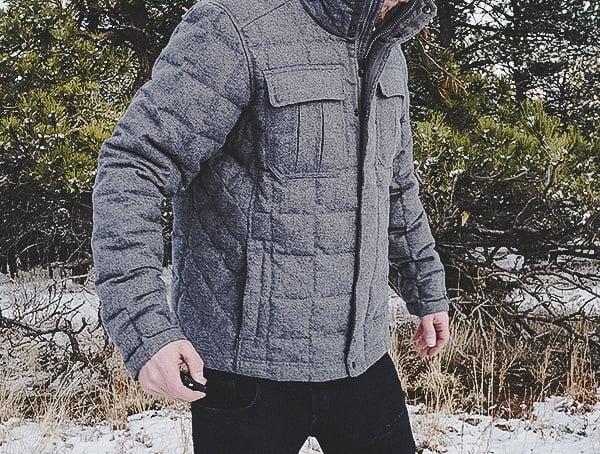 Mens Capre Heather Nau Utility Wool Down Jacket Review