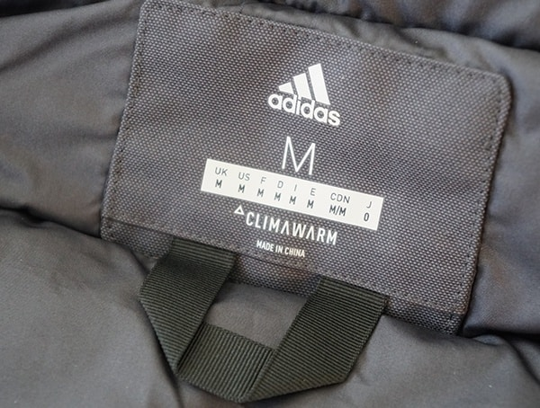 Mens Carbon Black Adidas Climarwarm Jacket