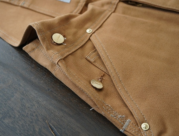 Mens Carhartt Quilt Lined Zip To Thigh Bib Overalls Button Sides Closed