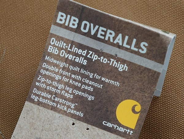Mens Carhartt Quilt Lined Zip To Thigh Bib Overalls Tag