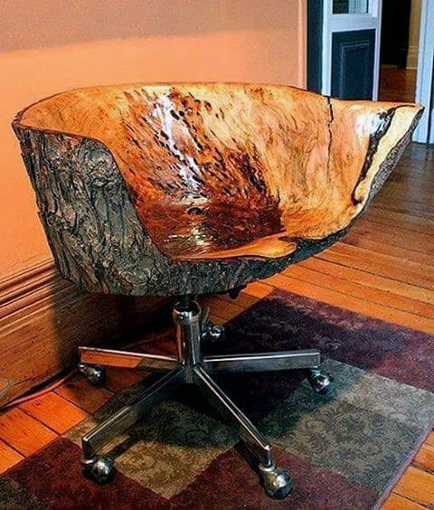 Mens Carved Wood Office Chair Bachelor Pad Furniture Ideas