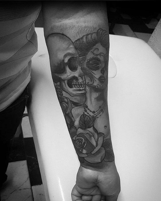 Mens Catrina Tattoo Design Ideas