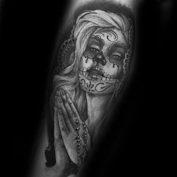 Mens Catrina Tattoo Design Inspiration