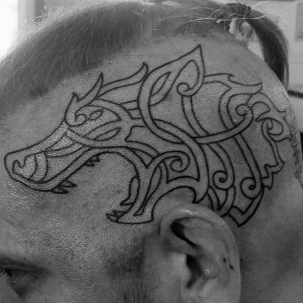 Mens Celtic Wolf Tattoo Ideas