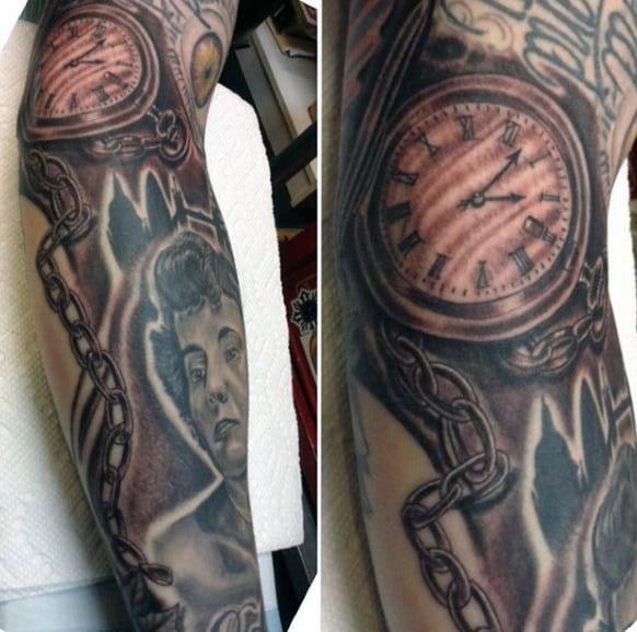 Mens Chain Tattoo On Forearm