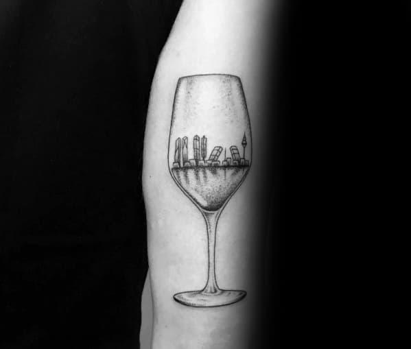 Mens Champagne Tattoo Designs
