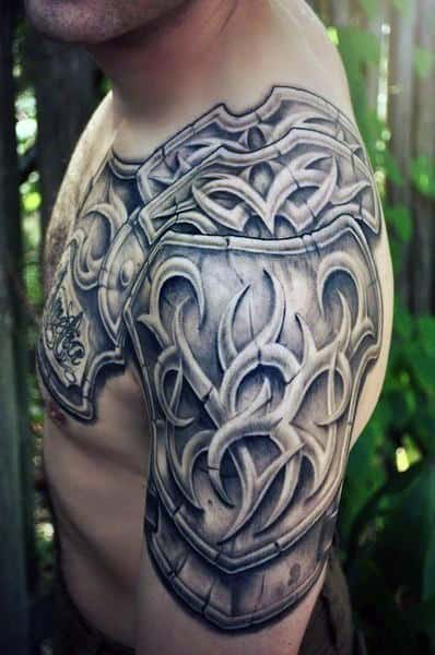 90 Best Armor Tattoos In 2020