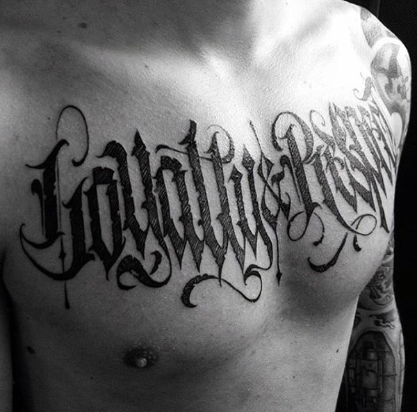 Tattoo Text Ideas: 75 Tattoo Lettering Designs For Men