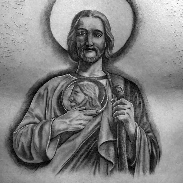 Mens Chest St Jude Tattoo Inspiration