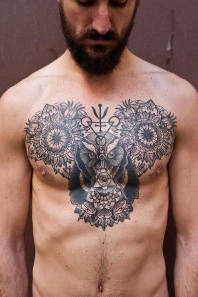 Men's Chest Tattoo