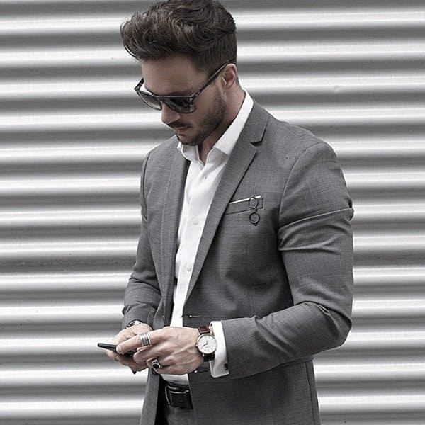 Mens Chic Grey Suit Style Designs