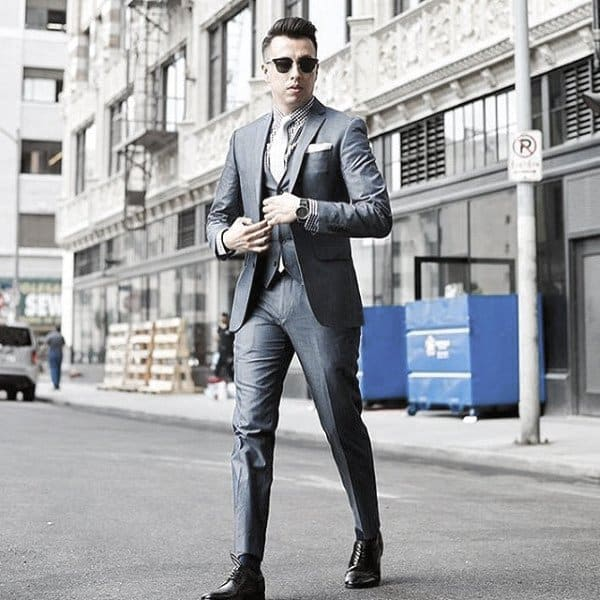 Mens Chic Navy Blue Suit Style Designs