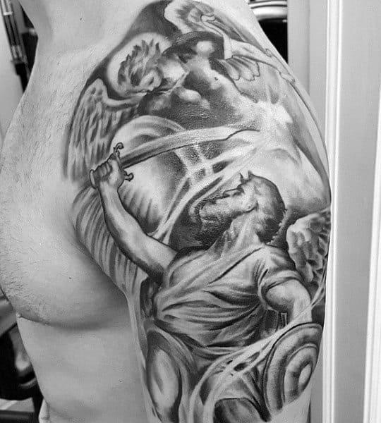 Mens Christian Faith Tattoos