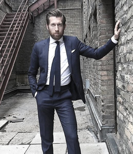 Mens Clothing Navy Blue Suit Styles